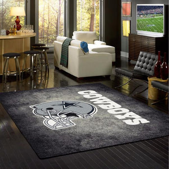 Dallas Cowboys NFL Team Distressed Rug