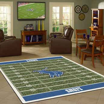 Detroit Lions NFL Football Field Rug