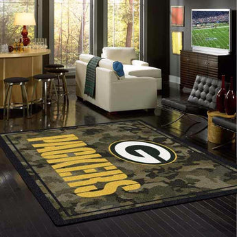 Green Bay Packers NFL Team Camo Rug