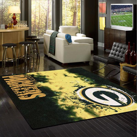 Green Bay Packers NFL Team Fade Rug