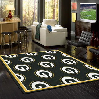 Green Bay Packers NFL Team Repeat Rug
