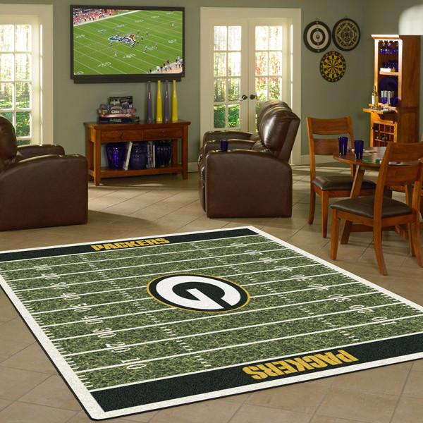 Green Bay Packers Football Field Rug - NFL Team