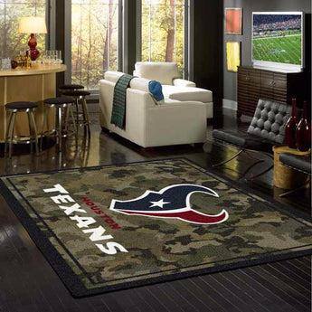 Houston Texans NFL Team Camo Rug