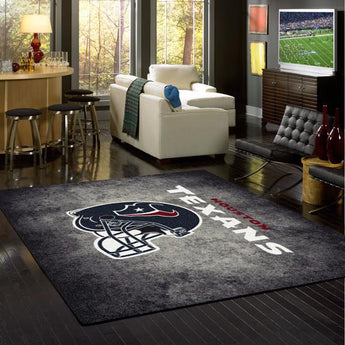 Houston Texans NFL Team Distressed Rug