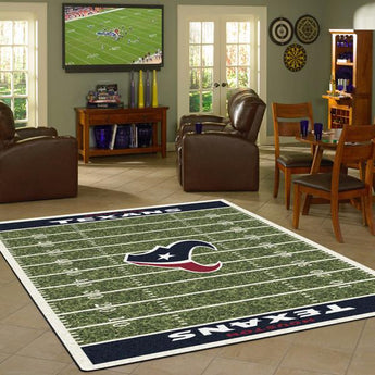 Houston Texans NFL Football Field Rug