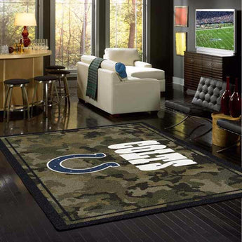 Indianapolis Colts NFL Team Camo Rug