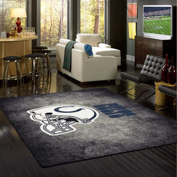 Indianapolis Colts NFL Team Distressed Rug