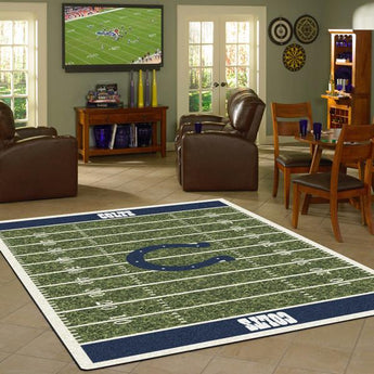 Indianapolis Colts Football Field Rug - NFL Team