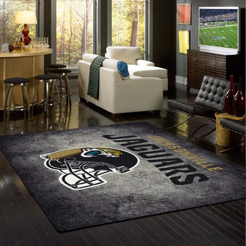 Jacksonville Jaguars Distressed Rug - NFL Team