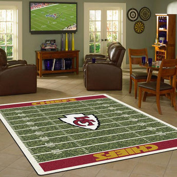 Kansas City Chiefs Football Field Rug - NFL Team