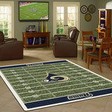 Los Angeles Rams Football Field Rug - NFL Team