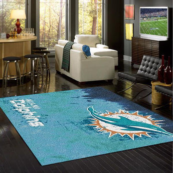 Miami Dolphins NFL Team Fade Rug