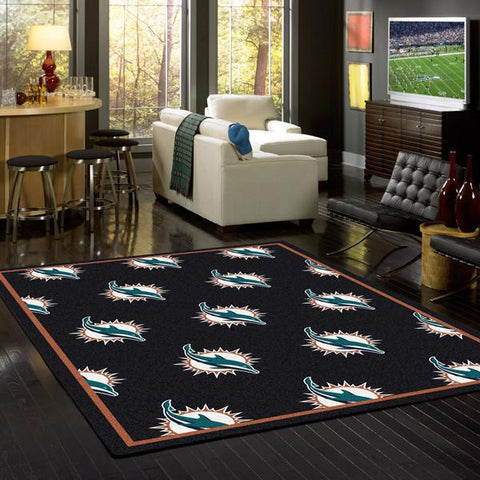 Miami Dolphins Repeat Rug - NFL Team