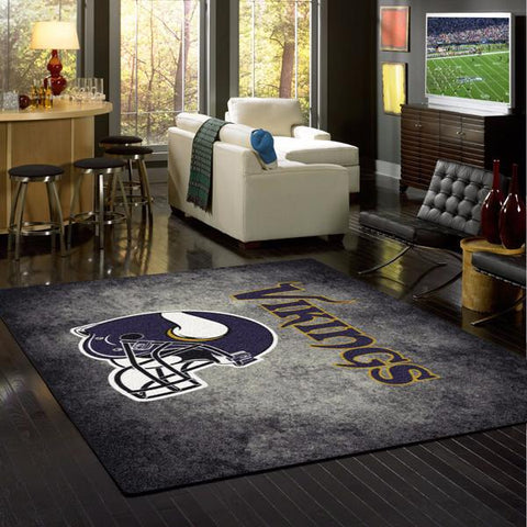Minnesota Vikings Distressed Rug - NFL Team