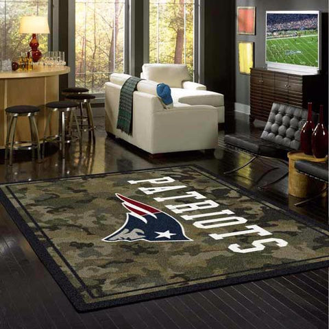 New England Patriots NFL Team Camo Rug