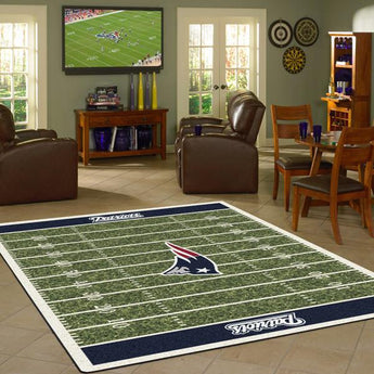NFL New England Patriots Football Field Rug