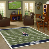 New England Patriots Football Field Rug - NFL Team