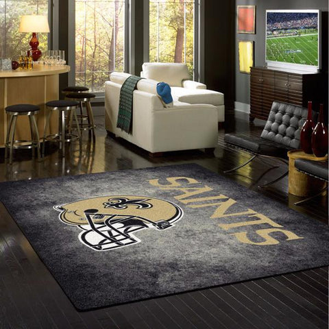 New Orleans Saints NFL Team Distressed Rug