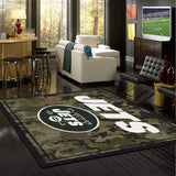 New York Jets NFL Team Camo Rug