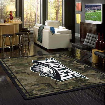 Philadelphia Eagles Camo Rug - NFL Team