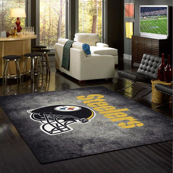 NFL Pittsburg Steelers Distressed Rug