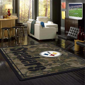 Pittsburg Steelers Camo Rug - NFL Team