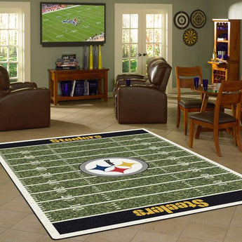 Pittsburgh Steelers Football Field Rug - NFL Team