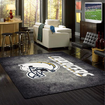 Los Angeles Chargers NFL Team Distressed Rug