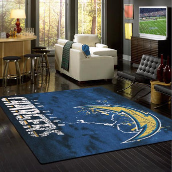 Los Angeles Chargers NFL Team Fade Rug