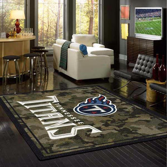 Tennessee Titans NFL Team Camo Rug