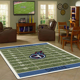 Tennessee Titans Football Field Rug - NFL Team