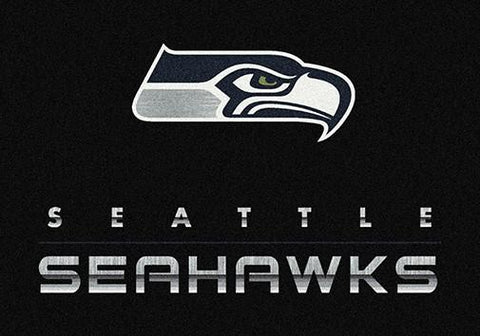 Seattle Seahawks Chrome Area Rug - NFL Team