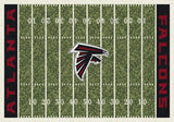 Atlanta Falcons NFL Football Field Rug