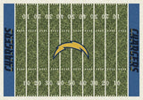 Los Angeles Chargers NFL Football Field Rug