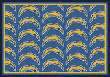 Los Angeles Chargers Repeat Rug - NFL Team