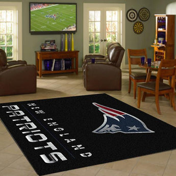 New England Patriots Chrome Area Rug - NFL Team