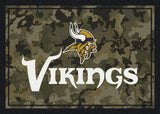 Minnesota Vikings NFL Team Camo Rug