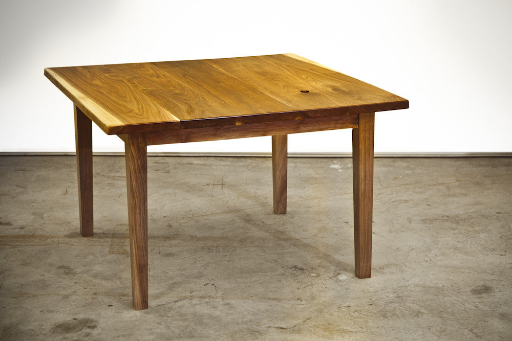 Black Walnut Tapered Leg Table