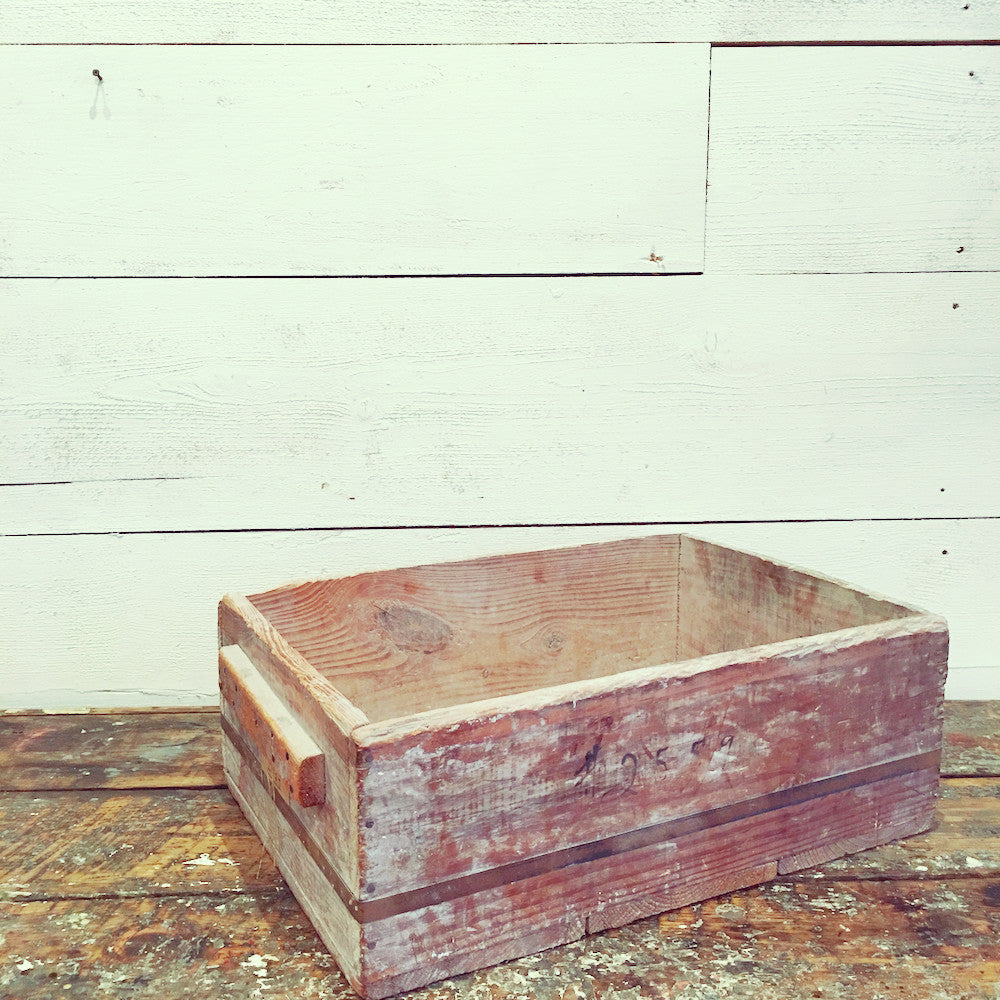 1940s Pin Ceramic Mold Holder (Wooden Crate)
