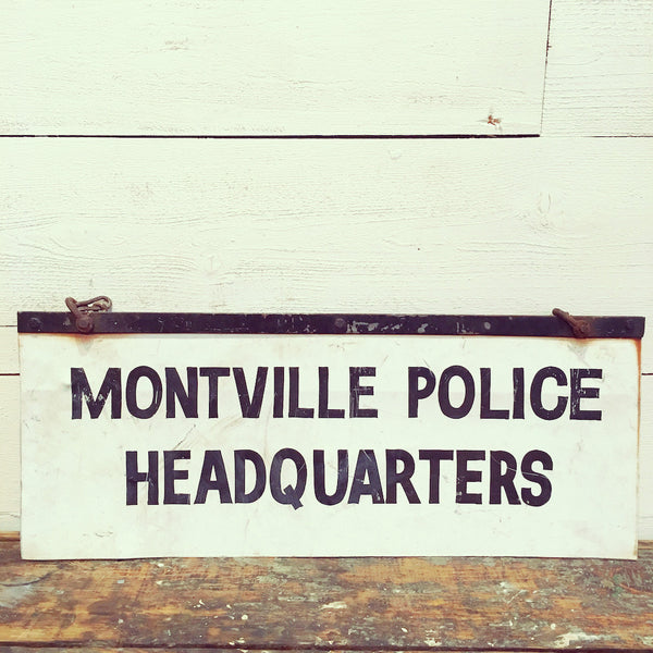 Montville Police Headquarters Sign