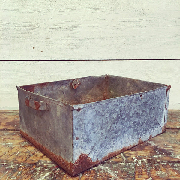 Galvanized Storage Bin with Handles