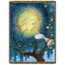 Angel Love Tapestry Throw