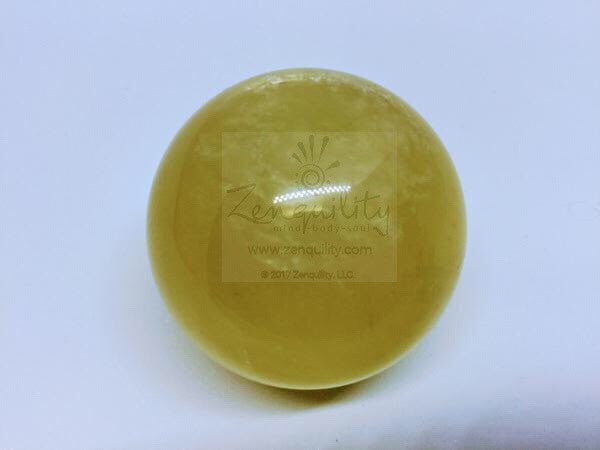 Golden calcite sphere