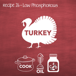 Cooked Turkey Low Phosphorous Adult (PP26)