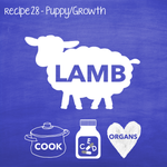Cooked Lamb For Growth Dogs (PP28)