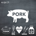 PP24 Cooked Pork Recipe for Adult Dogs
