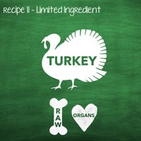 PP11 Raw Turkey Recipe for Adult Dogs
