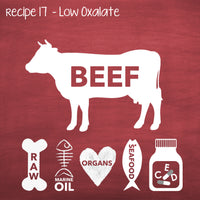 PP17 Raw Beef Low Oxalate Recipe for Adult Dogs