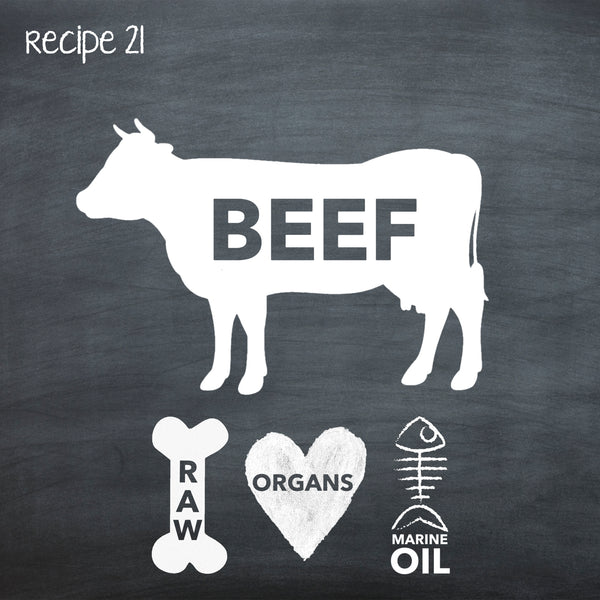 PP21 Raw Beef Recipe for Adult Dogs