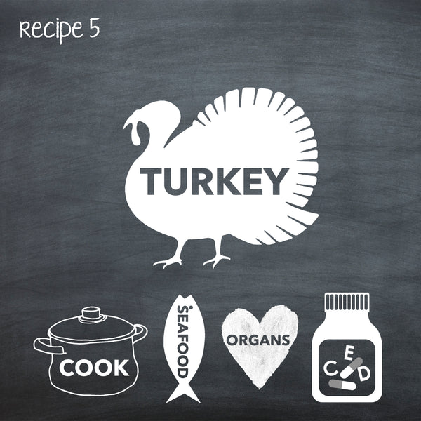 PP5 Cooked Turkey Recipe For Adult Dogs